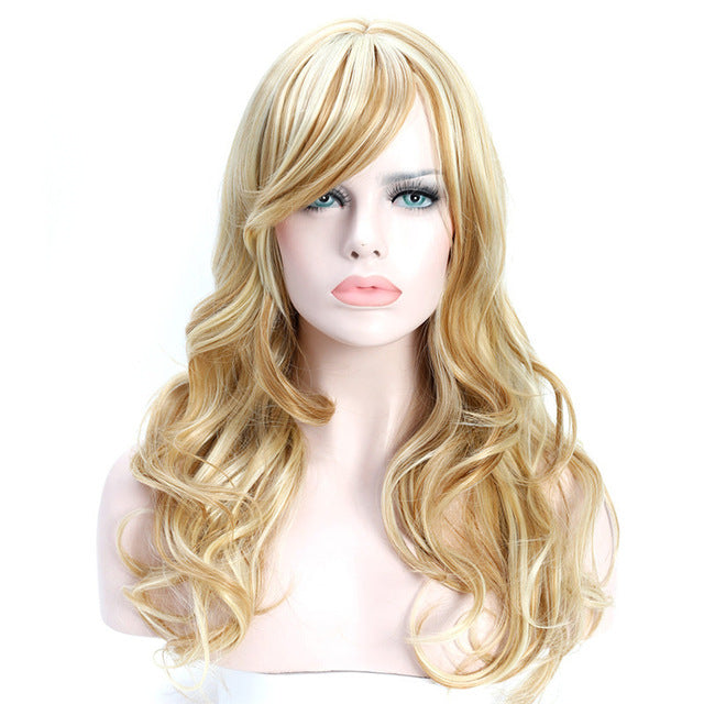 SHANGKE Long Wavy Synthetic Wig