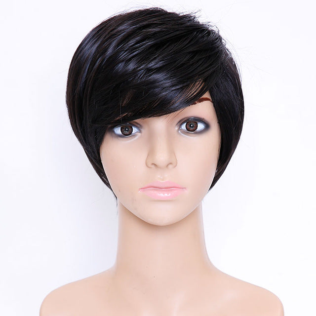 SHANGKE Hair Short Synthetic Wigs