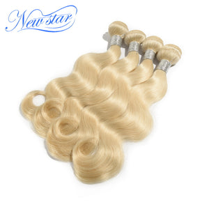 New Star Brand Brazilian Remy Blonde Hair Weave Extension 100% Human Hair 4 Bundles