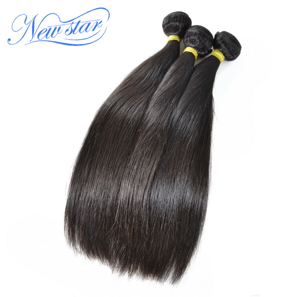 New Star Brand Malaysia Straight Virgin Human Hair Weave Extension 3 Bundles 10''-34''