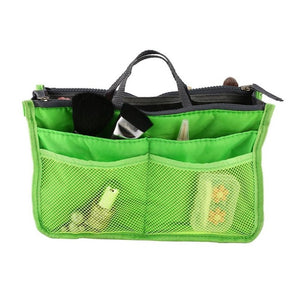 Multifunctional Double Zipper Polyester Portable Makeup Bag