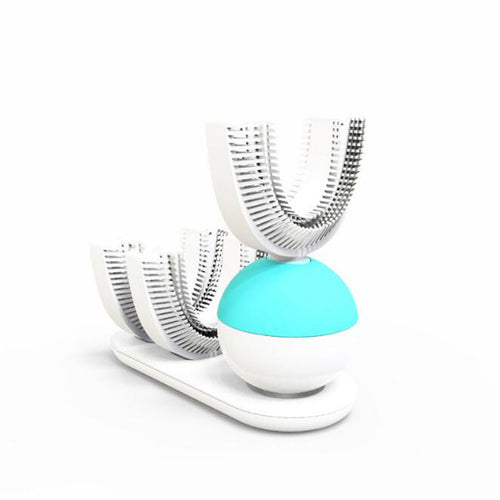 Automatic Electric Toothbrush Ultrasonic U-Shape Rechargeable Teeth Whitening 360 Degree Clean