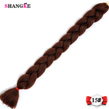 SHANGKE 82inch Jumbo Braids Synthetic Kanekalon Hair Braids Ombre Braiding Crochet Braids