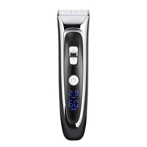Professional Hair Clipper LCD Display Barber Mute Electric Shears Ceramic Fast Charge Razor For Gift  FM88