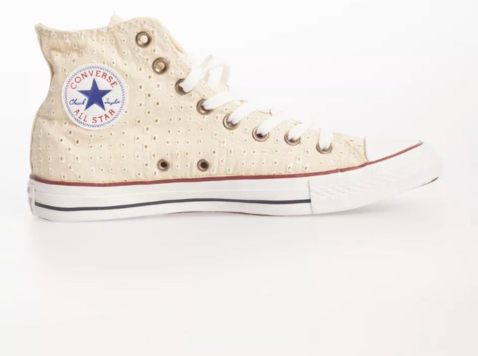 Converse - Retro Cracker Biscuit Pattern Shoes: Cream