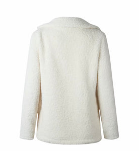 E.D - Fluffy Teddy Bear Jacket: Vanilla