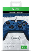Load image into Gallery viewer, PDP - Stealth Series Camo Wired Xbox One Controller: Camo Blue