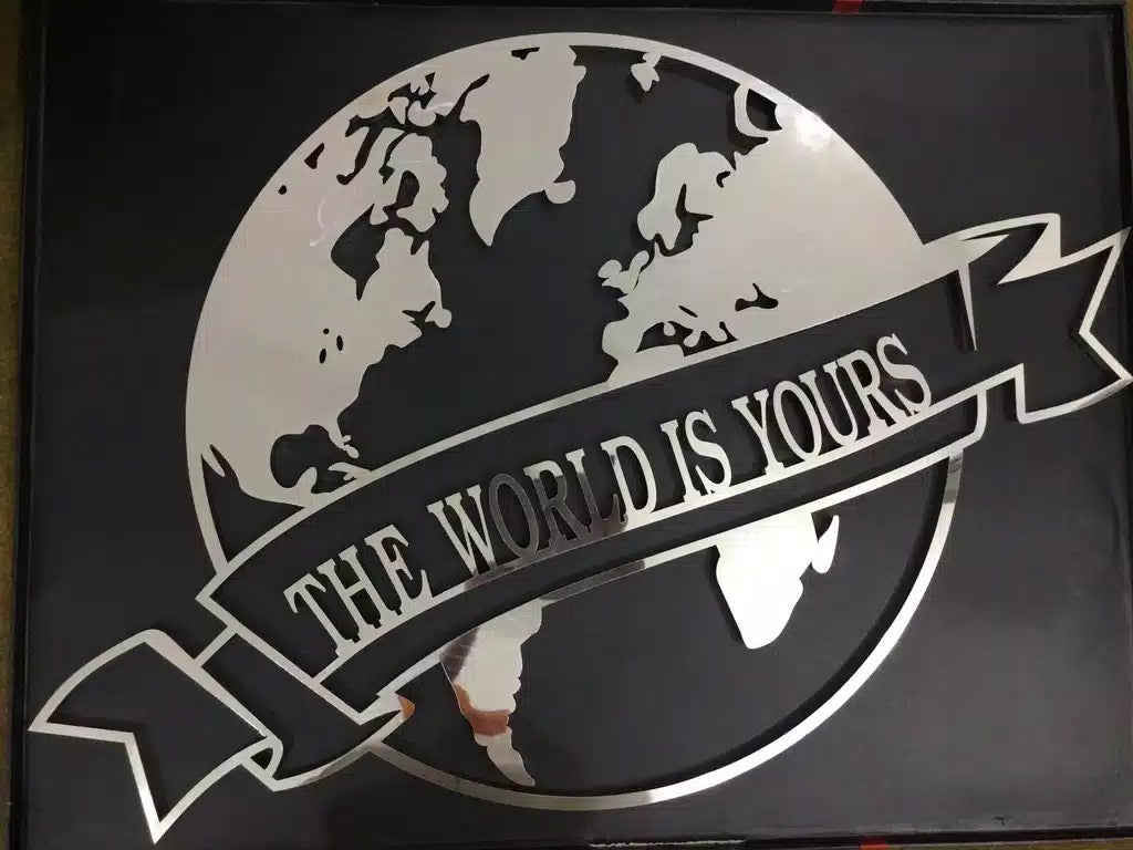 THE WORLD IS YOURS 3D WALL ART METAL DECOR