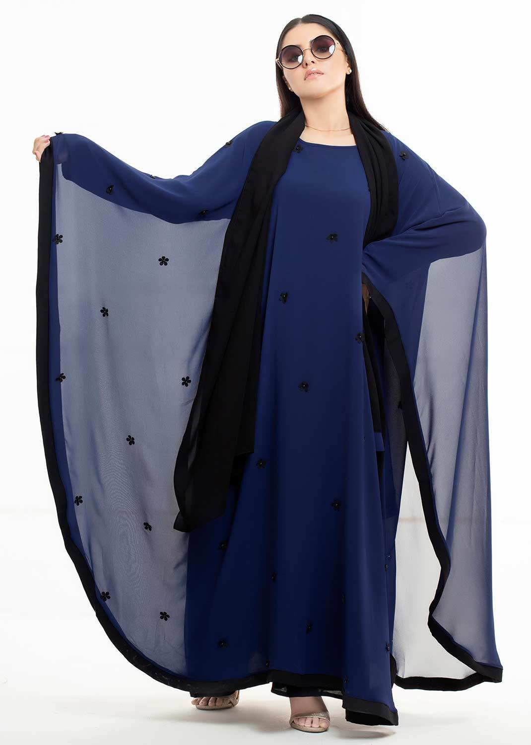 BLUE CHARISMA GOWN BUTTERFLY ABAYA