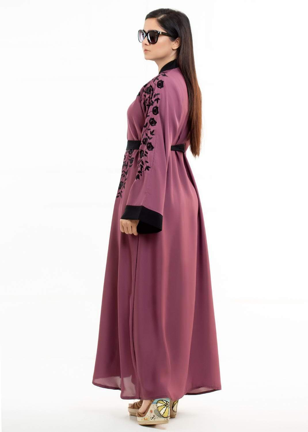 ORCHID EMBROIDERED ABAYA