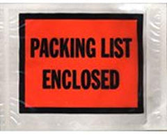 """Packing List Enclosed"" 4-1/2 x 6"" Envelopes Full Face (1000/cs)"