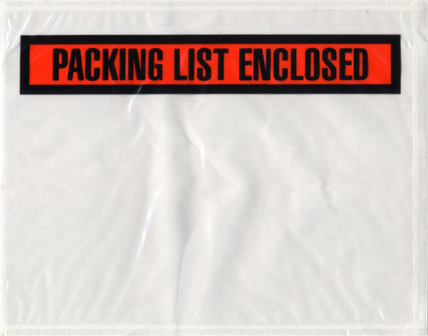 "Packing List Envelopes 7-1/2 x 5-1/2"" (1000/cs)"