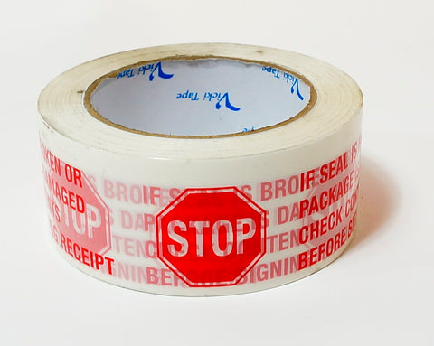 "2"" x 110 yd Stop Security Tape (36 rolls)"