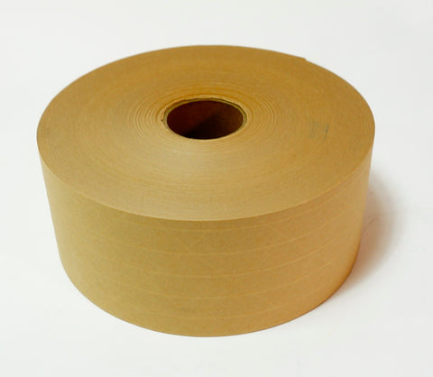 "3"" x 450' Water Activated Kraft Reinforced Tape (10 rolls)"