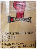 "Stretch Wrap 18"" x 1500' 80 Ga. (4 rolls/case)"
