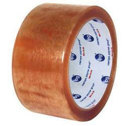 "2"" x 110 yd #500 Clear Intertape Tape (Natural Rubber) 36 rolls/case"