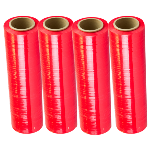 "Red Stretch Wrap 18"" x 1500' 80 Ga. (4 rolls/case)"
