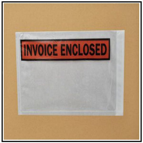 """Invoice Enclosed"" 4-1/2 x 5-1/2"" Envelopes (1000/cs)"