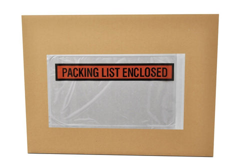 """Packing List Enclosed"" 5-1/2 x 10"" Envelopes (1000/cs)"