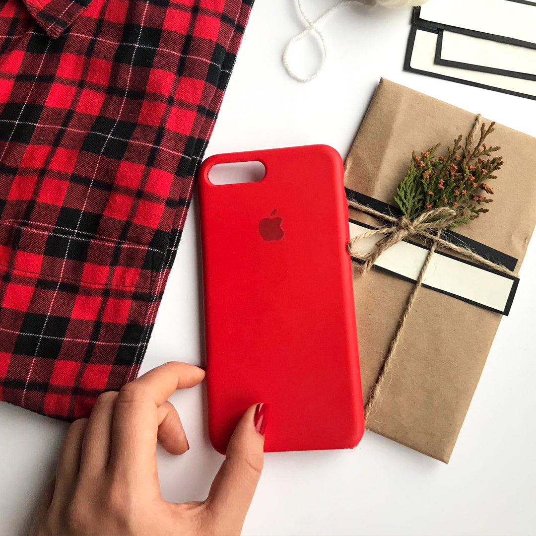 iPhone Silicone Case (Red)