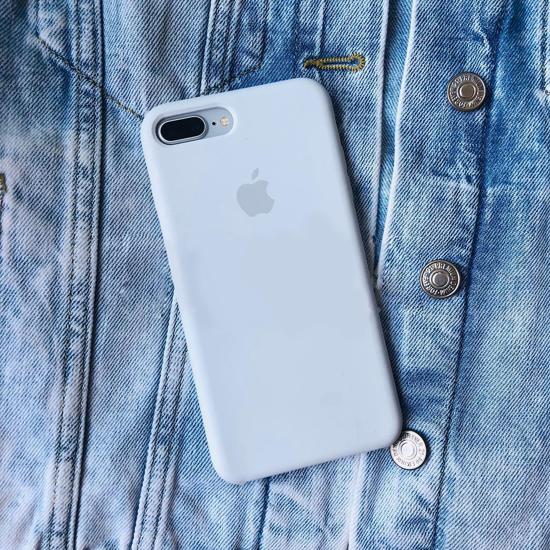 iPhone Silicone Case (Sky Blue)