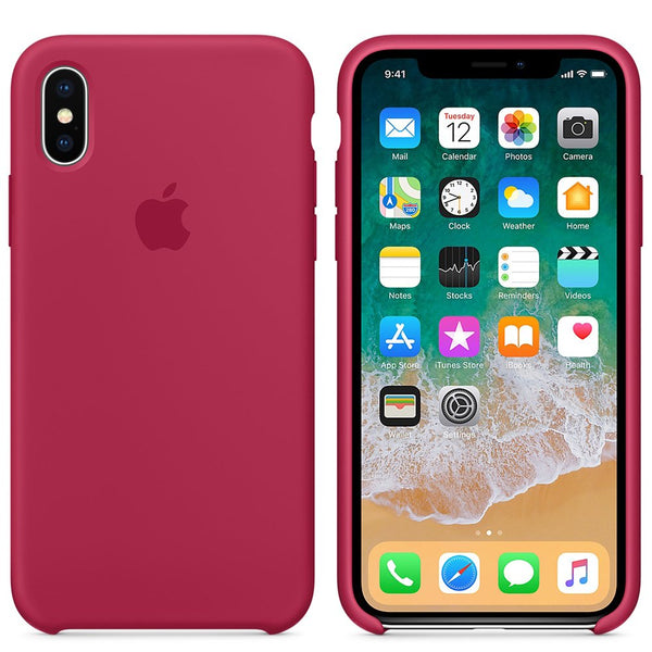 iPhone Silicone Case (Rose Red)