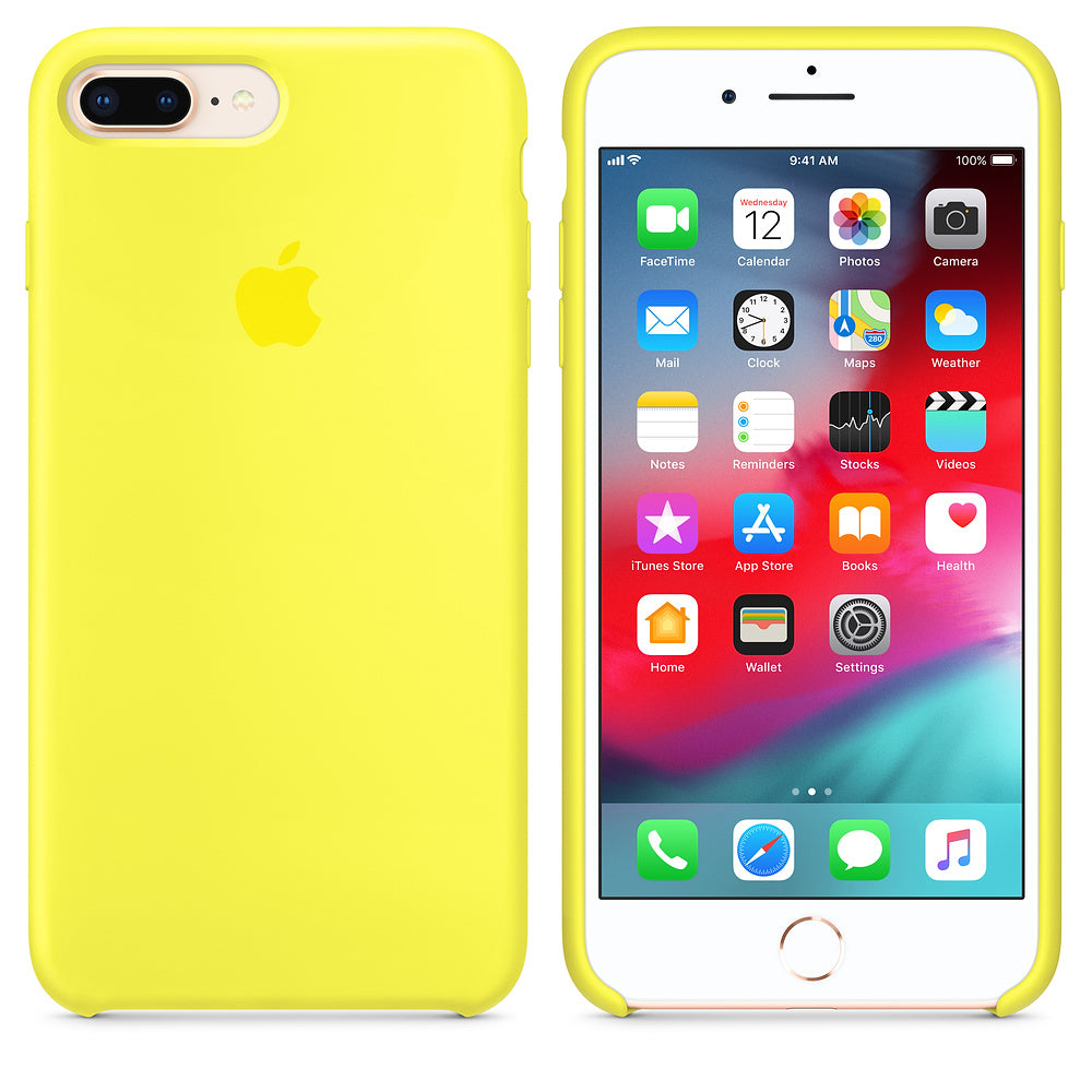 iPhone Silicone Case (Flash Yellow)