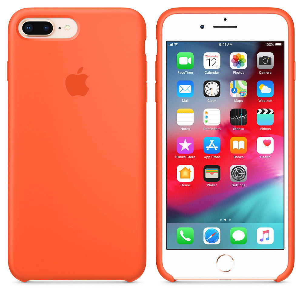 iPhone Silicone Case (Orange)