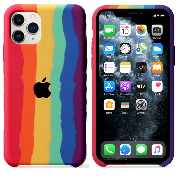 iPhone Silicone Case (Rainbow)