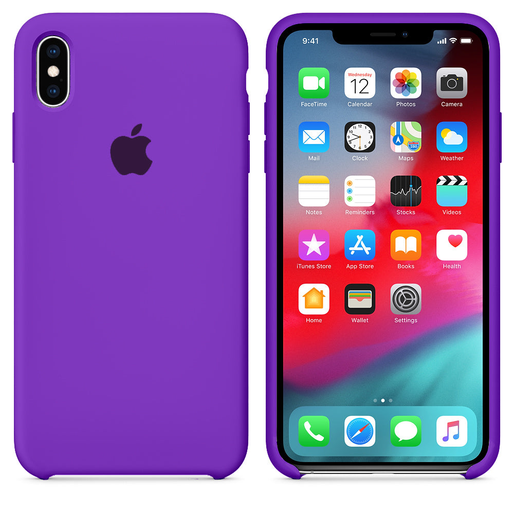 iPhone Silicone Case (Eggplant)