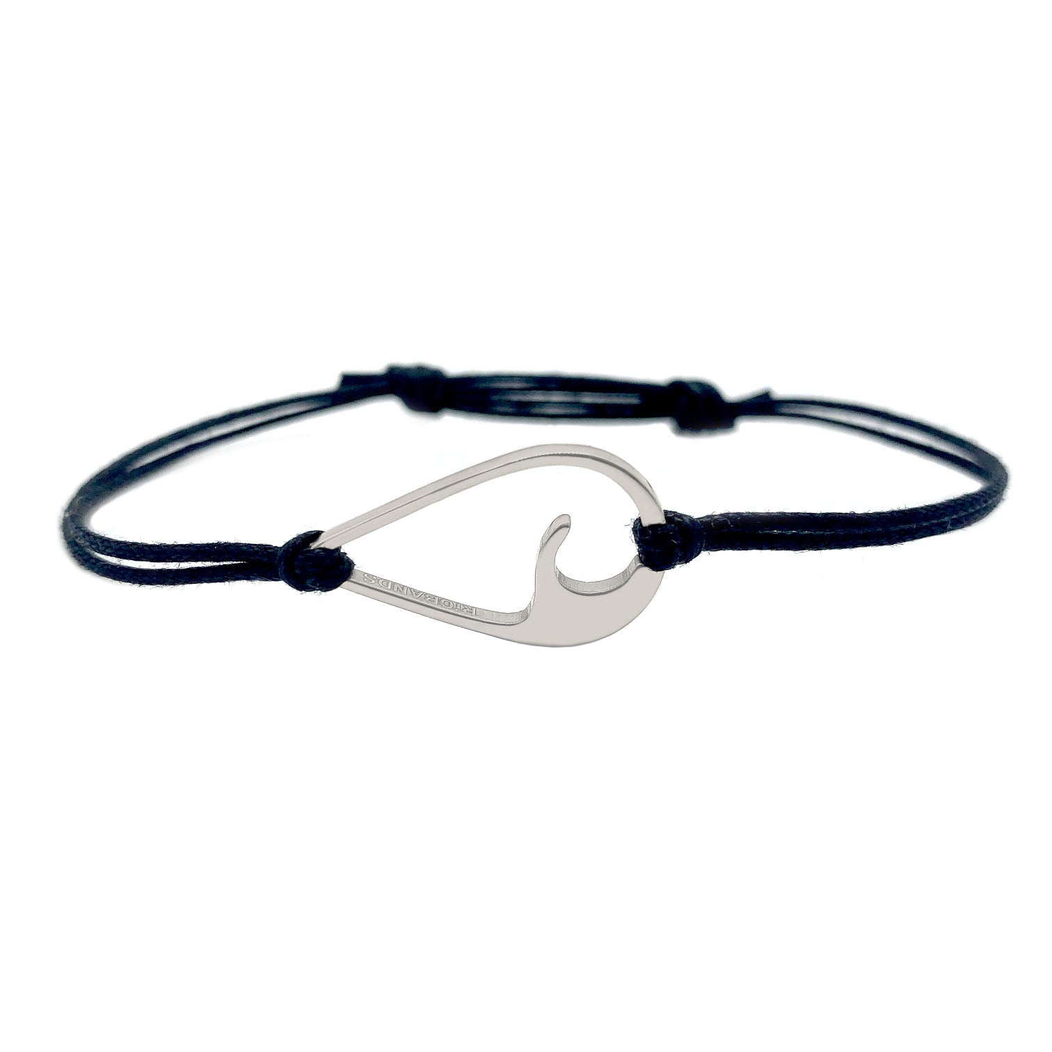 wavedrop bracelet black ice silver