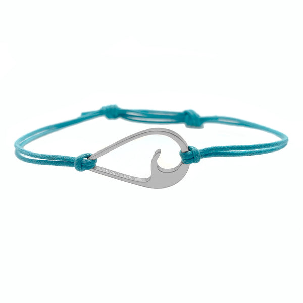 The Riobands wavedrop bracelet, pacific, silver