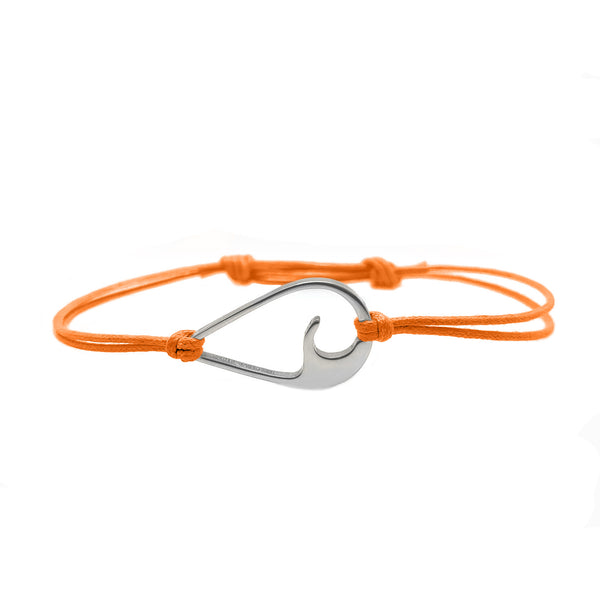 The Riobands wavedrop bracelet, Endless Summer, silver