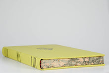 Load image into Gallery viewer, Pomelo: Hard Bound Leather Journal With Italian Marbled Edge and raised bands