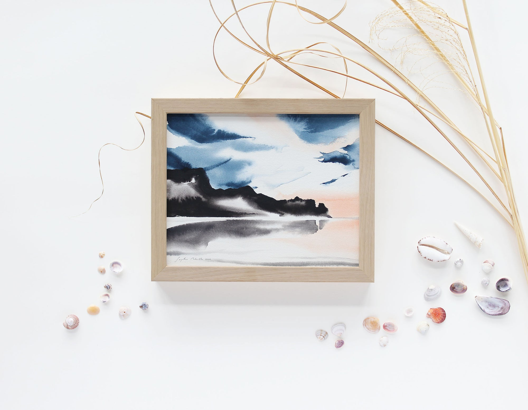 "Bethells Beach II - a small (10 x 8"") original painting"