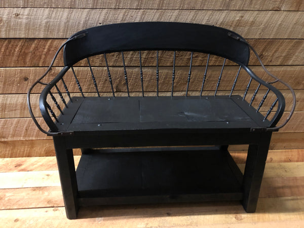 Vintage Buckboard Bench - Spindle Back