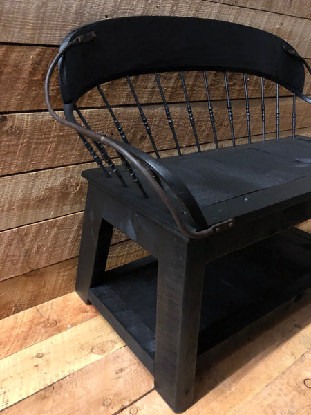 Incredible Vintage Buckboard Bench Spindle Back All Resort Furnishings Inzonedesignstudio Interior Chair Design Inzonedesignstudiocom