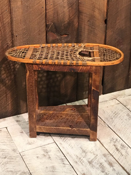 Vintage Snowshoe End Table