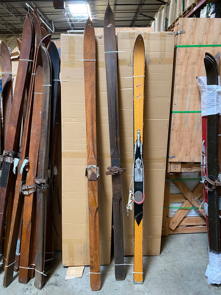 Vintage Skis - group of 3 pairs - #4