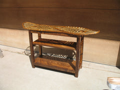 Vintage Snowshoe Console Table