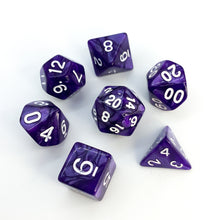 Load image into Gallery viewer, Purple Gang - Deep Purple Dice set - 7 piece RPG dice set