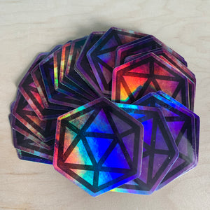 HOLO Galaxy D20 Die-Cut Sticker