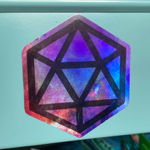Load image into Gallery viewer, HOLO Galaxy D20 Die-Cut Sticker