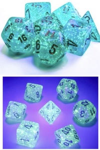 Teal Borealis Luminary - Chessex 7-piece set