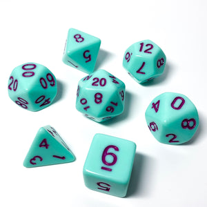 Hard Candy Mint - Opaque dice set - 7 piece RPG dice set