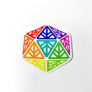Iconic Rainbow PRIDE Die-Cut Sticker