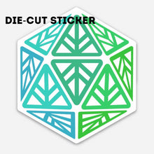 Load image into Gallery viewer, Green Leaf Geek Iconic Die-Cut Sticker
