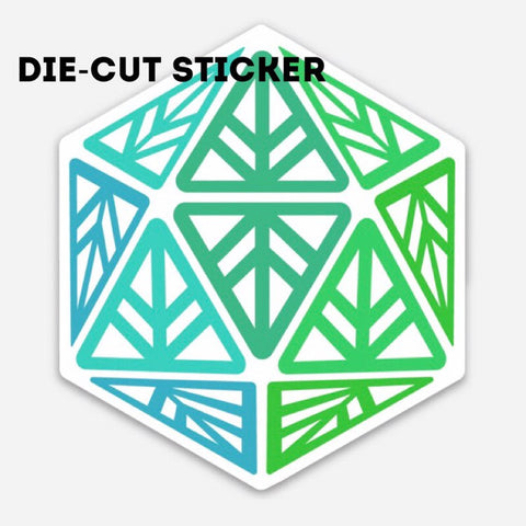 Green Leaf Geek Iconic Die-Cut Sticker