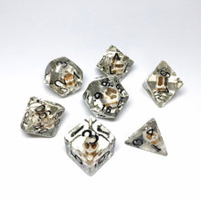 Load image into Gallery viewer, Custom Handmade Dice Commission - SOFT EDGE FULL 7-pc SET