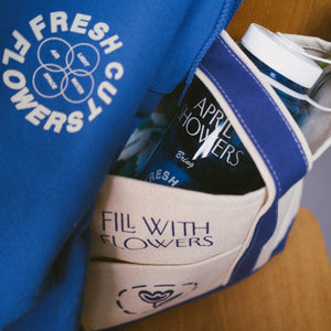 Fill With Flowers 2-Pocket Tote - Royal Blue
